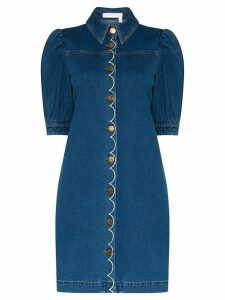See by Chloé button-up denim dress - Blue