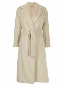 Blanca Vita belted cardigan-coat - NEUTRALS