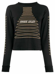 Maisie Wilen graphic-print slim-fit sweatshirt - Black
