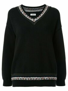 Coohem knitted cricket jumper - Black
