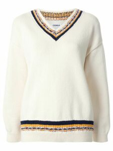 Coohem knitted cricket jumper - White