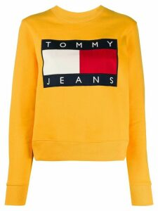 Tommy Jeans flag logo crew-neck sweatshirt - Yellow