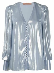 Andamane Cecilia metallic blouse - Blue
