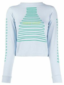 Maisie Wilen graphic-print slim-fit sweatshirt - Blue