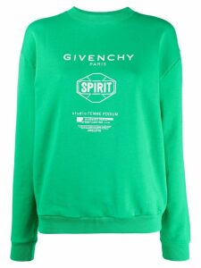 Givenchy Spirit print crew neck sweatshirt - Green