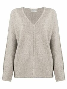 Co v-neck piped seam jumper - Grey