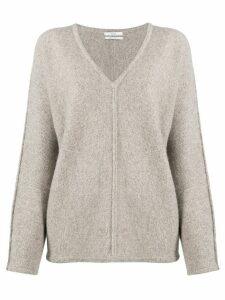 Co v-neck piped seam jumper - Grey