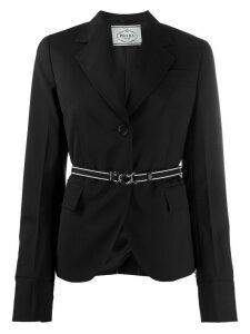 Prada single-breasted belted blazer - Black