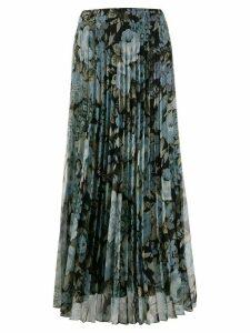 P.A.R.O.S.H. floral print pleated skirt - Black