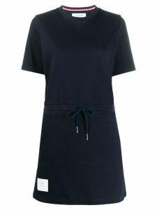 Thom Browne drawstring waist T-shirt dress - Blue