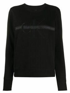 Calvin Klein Jeans logo tape crew-neck sweatshirt - Black