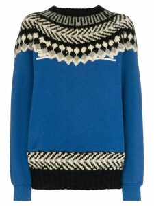 Rentrayage The Outlaw King Fair Isle jumper - Blue