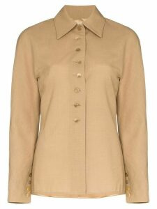 SAMUEL GUÌ YANG button-up shirt jacket - NEUTRALS