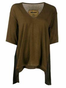 Uma Wang V-neck draped front T-shirt - Brown