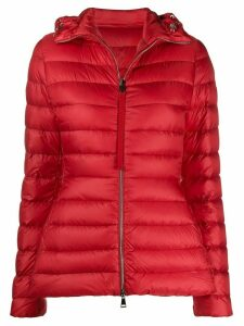 Moncler padded hooded jacket - Red