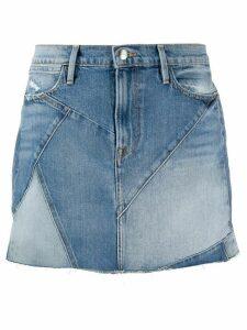 FRAME patchwork mini denim skirt - Blue