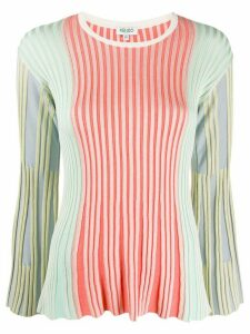Kenzo ribbed colour-block jumper - Green
