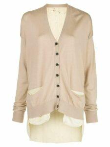 Uma Wang buttoned fine knit cardigan - NEUTRALS