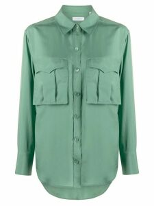 Equipment oversized chest pocket shirt - Green