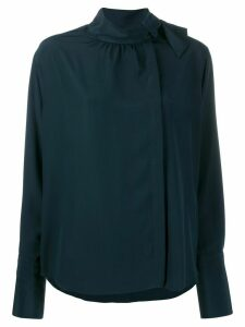 Fendi foulard collar flowing blouse - Blue