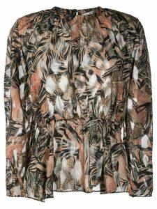 IRO pleated floral blouse - Black