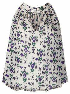 Isabel Marant Étoile Ryson geometric print blouse - NEUTRALS