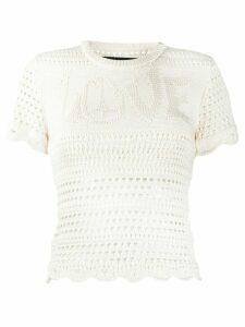 AMIRI crochet knit top - White