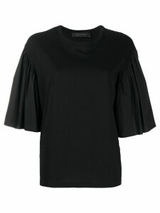 Federica Tosi flared sleeve T-shirt - Black