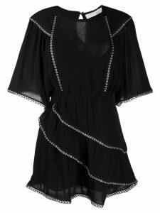 IRO Zafora eyelet mini dress - Black