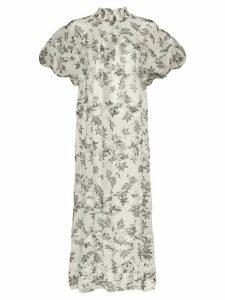 Lee Mathews Lucy floral print dress - White