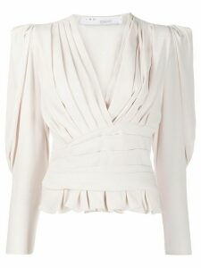 IRO Charlos pleated top - NEUTRALS