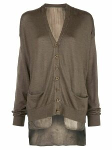 Uma Wang buttoned fine knit cardigan - Brown