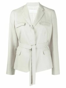Fabiana Filippi belted fitted jacket - Grey