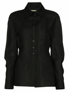 SAMUEL GUÌ YANG spread collar button-up shirt - Black