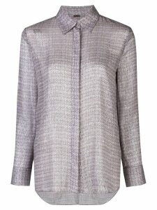 Adam Lippes printed chiffon shirt - PURPLE