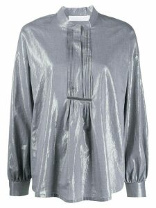 Fabiana Filippi metallic effect henley blouse - Grey