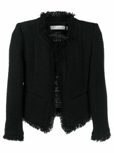 IRO frayed tweed jacket - Black