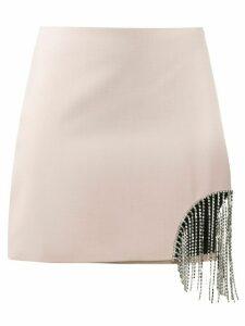 AREA hanging rhinestone skirt - NEUTRALS