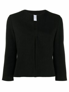 Harris Wharf London collarless cropped jacket - Black