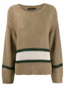 Fabiana Filippi chunky stripe jumper - NEUTRALS