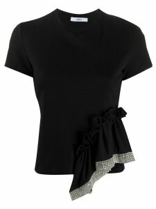 AREA draped detail T-shirt - Black