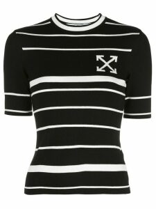Off-White arrow striped knitted top - Black