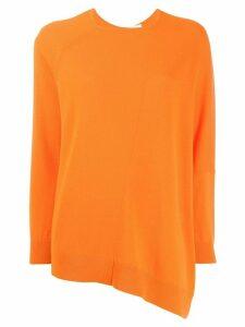 Fabiana Filippi asymmetric cashmere jumper - ORANGE