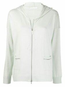 Fabiana Filippi knitted zipped hoodie - Green