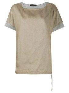 Fabiana Filippi jersey insert T-shirt - NEUTRALS