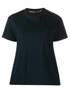 Sacai pleated side panel T-shirt - Blue