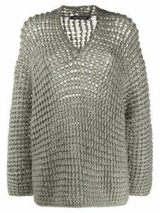 Iris Von Arnim Handstrick chunky knit jumper - Grey