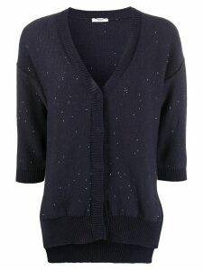 Peserico sequinned slouchy cardigan - Blue
