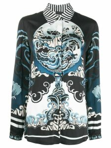 Just Cavalli abstract-print shirt - Blue