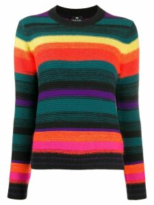 PS Paul Smith striped rainbow jumper - Black